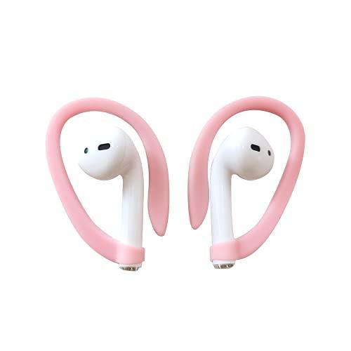 QAQHZW EarHooks Gancho de Oreja Compatible con AirPods Pro & Compatible con AirPods 1, 2 - Diseñado para la Actividad, , TPU (Rosa)