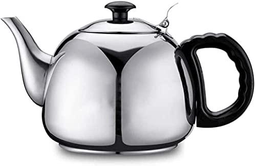 1L estufa tetera hervidor de acero inoxidable espesar té plano café inducción cocina 105 130 70mm