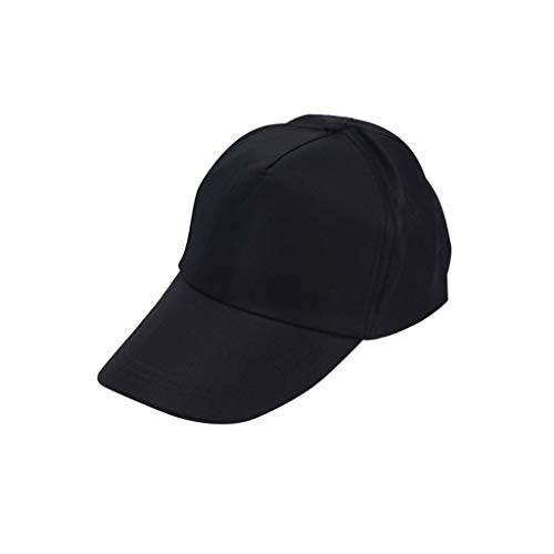 PPangUDing Baseballcap Schirmmütze Herren Damen Mode Einfarbig Sonnenhut Mütze Kappe Outdoor Sports Running Cap one Size verstellbar (Schwarz)