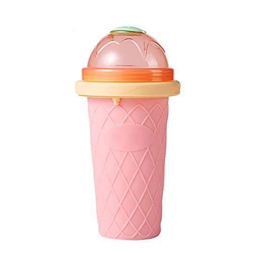 Taza para hacer whisky, taza mágica congelada, TIK TOK DIY Ice Maker Cup Quick Frozen Smoothie Cups con tapas y popotes para helados, batidos caseros y batidos para hacer hielo para niños y familia