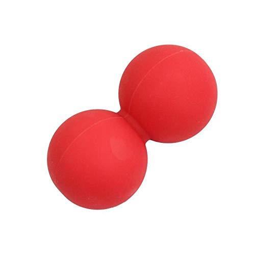 hmmsw Abnehmen Fußmassageball Muskel Relax Erdnussball Sohle Hals Halswirbelsäule Rückenübung Fitness Meridian Faszienball-Doppelkugel rot