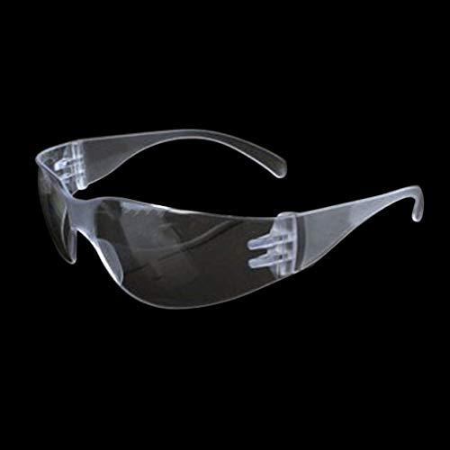 YUIO 1 PC Gafas de Seguridad de Laboratorio Protección de los Ojos Médicos Gafas de Protección de la Lente Transparente Lugar de Trabajo Gafas de Seguridad Anti-Polvo Suministros (transparente) 🔥