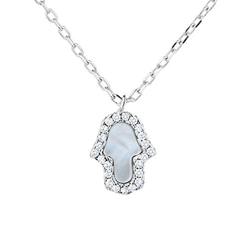 Lucky Meet Collar de ópalo para mujer, colgante de gota de ópalo creado, collar delicado, collar de piedra lunar natural, collar con dije de regalo