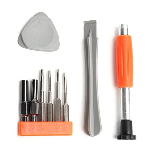 Consola de juegos Controlador Destornillador Kit de herramientas Portátil compacto Kit de destornillador de mantenimiento Herramienta de palanca y cepillo de limpieza Herramientas de reparación Aptas