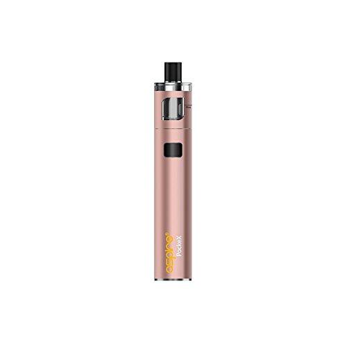E-Zigarette, Aspire Pockex Starter Vape Kit, Pocket AIO All in One ,Top Airflow, 2ml E-Saft TPD Gefälliger Behälter, Keine E Flüssigkeit, Nikotin frei (Roségold)
