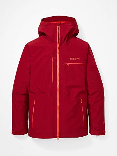 Marmot Cropp River Jacket Impermeable rígido, chubasquero, resistente al viento, resistente al agua, transpirable, Hombre, Brick, M
