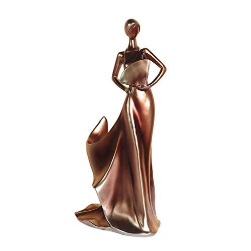 Non-brand Estante de Vino de Resina, Soporte de exhibición de Vino de Estatua de Belleza clásica, Utilizado para el Soporte de Almacenamiento de Vino de Mesa - de Cobre