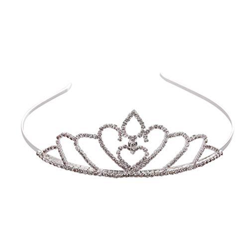 Couronne de mariée cristal simple cerceau de cheveux noble princesse Hairband Accessoires de cheveux de mariage