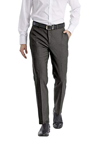 Calvin Klein Men's Slim Fit Dress Pant, Grey, 34W x 32L
