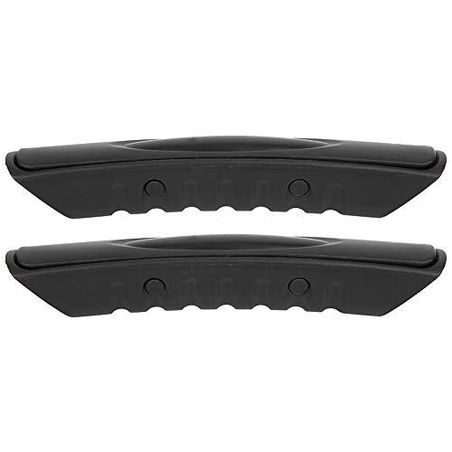 Alomejor 2 Piezas de Mango de Montaje Lateral para Kayak, Impermeable, Resistente al Desgaste, para Canoa, Barco, Mango de Montaje Lateral Negro 18x3 cm