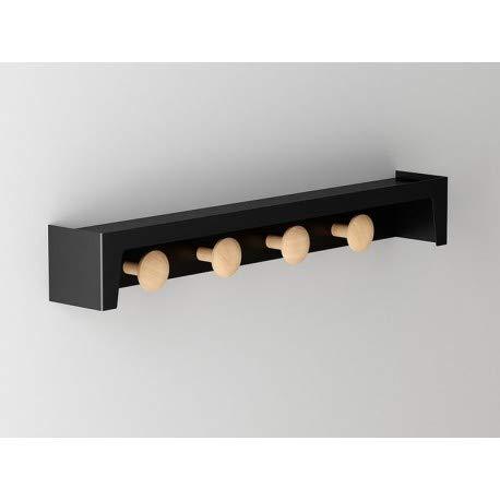 Appendiabiti da parete con mensola di designer Berg pau407008-DESKandSIT-