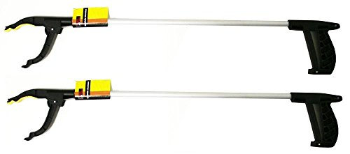 2x Universal Alu Greifhilfe mit Magnet Greifzange Müllzange Greifarm