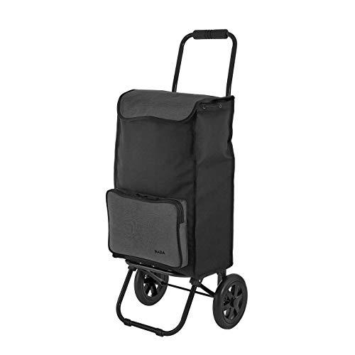 Rada Einkaufstrolley ER/1 40 Liter, robuster Marktroller, Einkaufswagen, Handwagen, mit 2 Rollen, wasserabweisender Transportwagen mit großen Rädern, (Anthra)