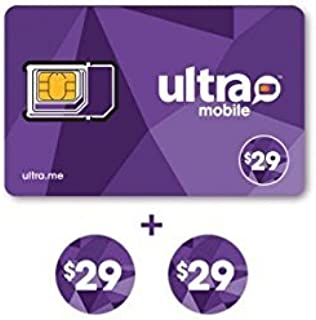 Ultra Mobile $29 Plan for 2 Months with SIM Card