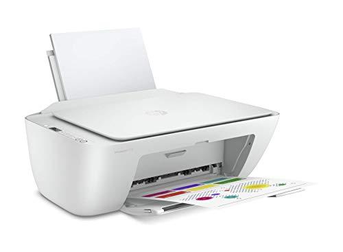 HP DeskJet 2710 5AR83B Stampante Fotografica Multifunzione A4, Stampa, Scansiona, Fotocopia, Wi-Fi, Wi-Fi Direct, HP Smart, No Stampa Fronte Retro Automatica, 2 Mesi di HP Instant Ink Inclusi, Bianco