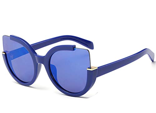 Daawqee Prämie Sonnenbrillen,Brillen,Cat Eye Sunglasses Women Brand Designer Vintage Sunglass Fashion Driving Sun Glasses For Women Glasses UV400 Blue