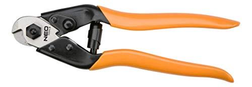 Neo Tools 01-512 Tijeras para cuerdas y alambres de acero, 190 mm