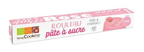 Scrapcooking Rouleau Pâte à Sucre Rose 430 g