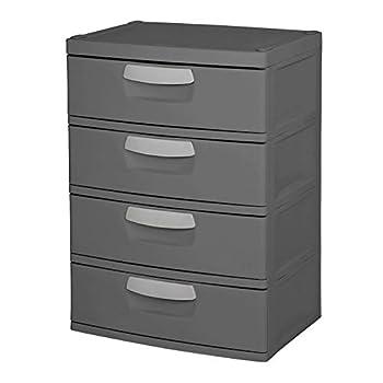 STERILITE 4 Drawer Heavy Duty Storage Unit-Grey