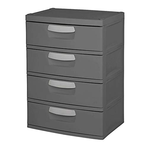 STERILITE 4 Drawer Heavy Duty Storage Unit-Grey