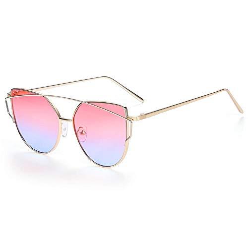Sonnenbrille Sunglasses Sonnenbrillen Frauen Cat Eye Design Spiegel Flache Rose Gold Vintage Cat Eye Mode Sonnenbrillen Lady Eyewear C