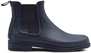 [ハンター] メンズ オリジナル リファインド チェルシーブーツ ネイビー MEN'S ORIGINAL REFINED CHELSEA navy レインブーツ 長靴