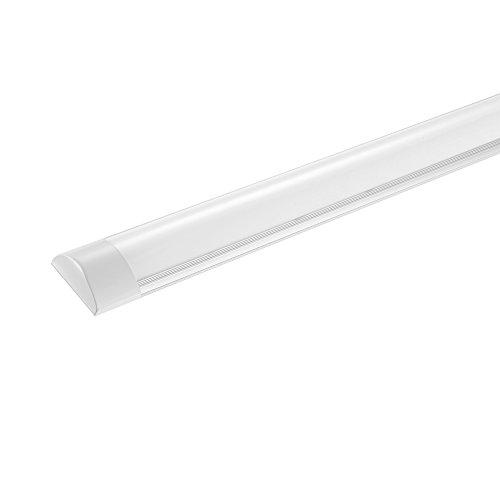 LED Deckenleuchte 120cm 40W Ultraslim Tube Röhre, Kaltweiß 6500K 4800LM, Lineare Lichtleiste Leuchtröhre Deckenlampe Werkstattleuchte für Garage Keller Werkstatt Von papasbox