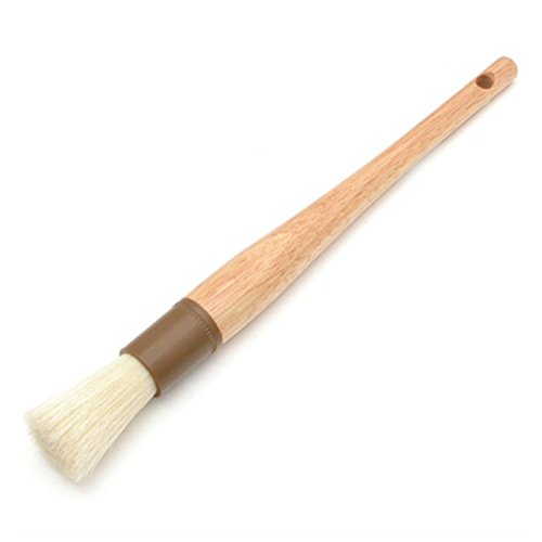 "Update International WPBB-10R Round Pastry Brush Boar Bristles Brown Band 1"" Round"