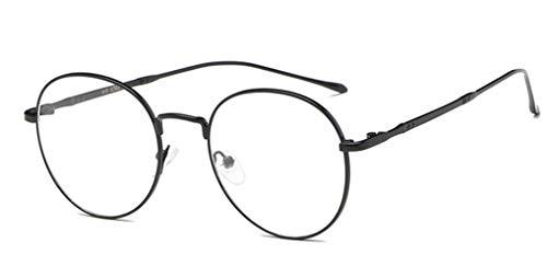 NAVARCH Accesorio de Moda Montura de Gafas Mujer Hombre Montura de Gafas Metal Dorado,Negro,Plateado Montura de Gafas Transparentes Unisex No prescripción