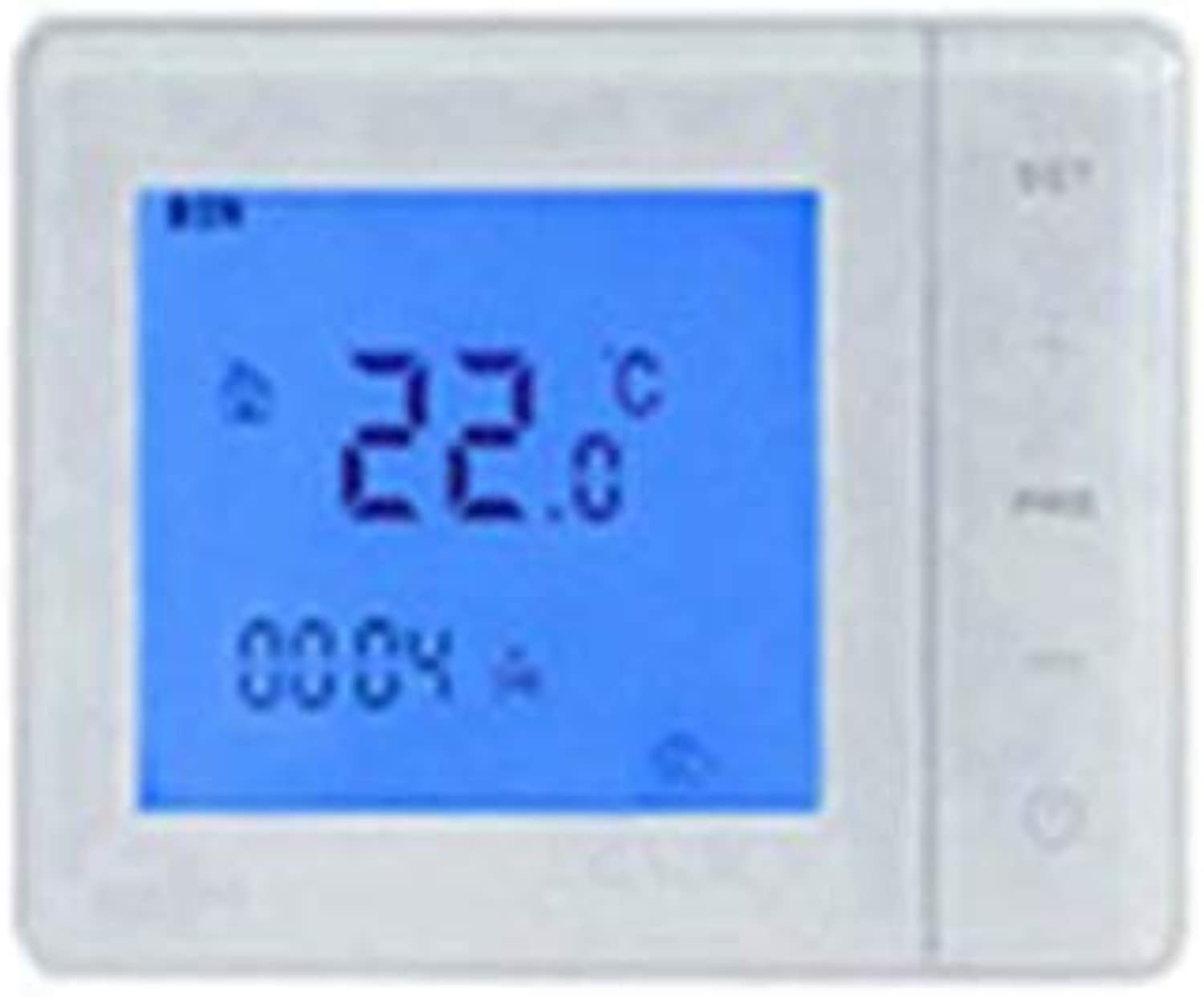 HY01RF Wireless Gas Boiler Thermostat RF Control Heating Control 100-240V White