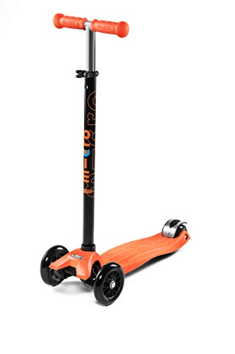 Micro Kickboard - Maxi Original 3-Wheeled, Lean-to-Steer, Swiss-Designed Micro Scooter for Kids, Ages 5-12 - Orange