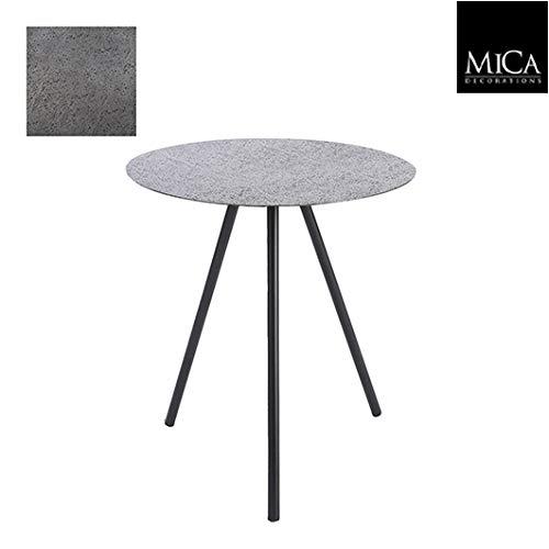Mica Decorations Bijzettafel antraciet - 50 x Ø 45 cm