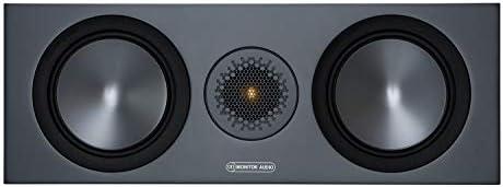 Monitor Audio Bronze C150 6g Farbe Schwarz Center Lautprecher Stück Heimkino 2 Wege 8 Ohm 120 Watt Magnetische Abdeckung Geschlossenes Gehäuse Passiv Audio Hifi