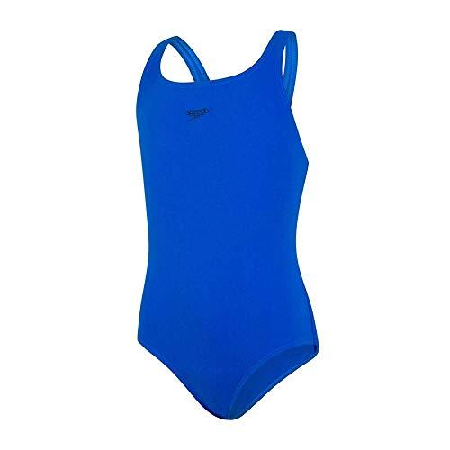 Speedo Essential Endurance+ Medalist Badeanzug Mädchen, Badeanzug Kinder, Blau, Größe 128
