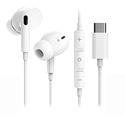 Cuffie USB C HiFi Stereo Bass Noise Cancelling Tipo C Auricolari USB C cablati con microfono e controllo del volume per Google Pixel 2/3/4/XL/Huawei P30/P20/iPad Pro 2018/OnePlus 6T/Xiaomi mi 8/HTC
