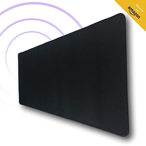 Tapis de Souris XXL Noir de Noucorp - Grand pour Gaming et Hydrorésistant - Super Ergonomique pour Bureau de Gamer - Sous Mains XL - Accessoire pour Repose Poignet - Fourniture de Setup PC - 800x300