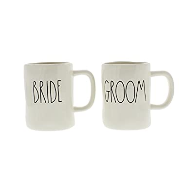 Rae Dunn Artisan Collection by Magenta BRIDE and GROOM Mug Set