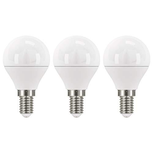 EMOS Lot de 3 ampoules LED 6 W / A+ / Remplace une ampoule à incandescence de 40 W / Culot E14 / 470 lm / Blanc neutre - 4000 K / Mini Globe G45 / Durée de vie de 30 000 heures