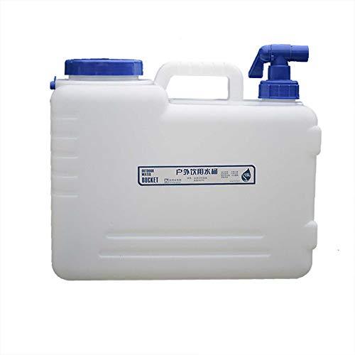 Gnohnay 15L Cubo de Almacenamiento de Agua con Grifo y Asa, Tanque de Transporte de Grifo, Cubo de Agua Potable Portátil para Acampar, Senderismo, Escalada, Barbacoa