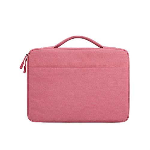 Bolsa de manga portátil Macbook a prueba de agua for el estuche Air Pro Case Anti-Fall Portátil Bolso 13/14/15 pulgadas Bolsa de computadora Maletín ( Color : Pink with cushion , Size : 13.3 inch )