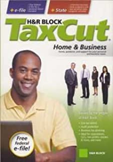 2008 TaxCut Home & Business Federal + State + 5 Efiles H&R Block Tax Cut