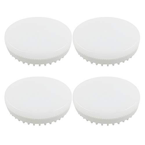 Leuchtmittle GX53 9W LED-Disc für Schranklampe, Ersatz für 15-18W Engeriesparleuchten, Kaltweiß 6000K, 900LM, Nicht Dimmbar, 180 Grad Strahler, Einbaustrahler GX53 LED 230V, 4er-Set
