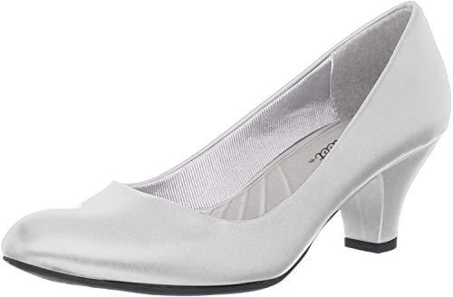 Easy Street Womens Fabulous Round Toe Pumps - White - Size 7.5 B