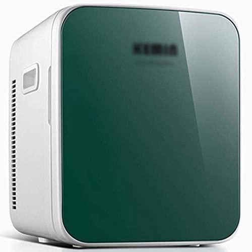 FHKBK Refrigerador para automóvil de energía Dual Caliente y fría de 16L, Mini refrigerador de Doble Uso para Dormitorio y hogar, Pantalla Digital AC/DC-16L (un Solo núcleo) _Verde A