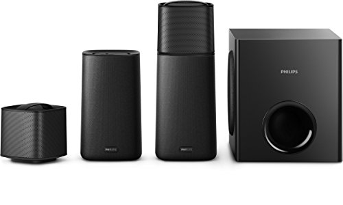 Philips CSS5235Y Surround On Demand Kinolautsprecher (abnehmbare Rücklautsprecher, kabelloser Subwoofer, HDMI ARC, Bluetooth, NFC, 200 Watt) schwarz