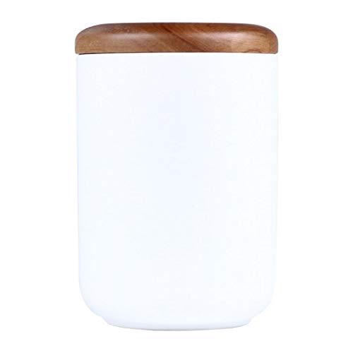Vorratsdose aus Keramik mit Holzdeckel, für Kaffee, Zucker, Tee, Gewürze und Nüsse, keramik, 13*19cm (1600ml)