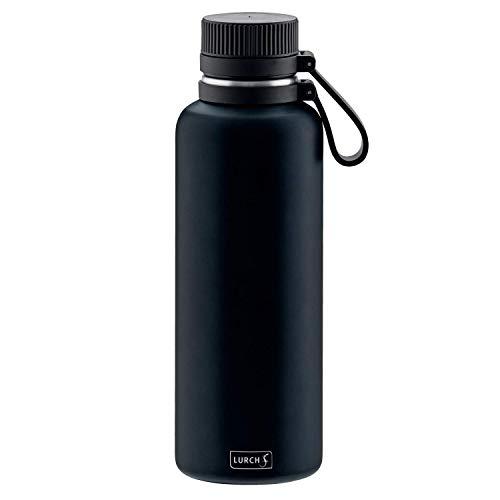 Lurch 240975 Outdoor Isolierflasche für heiße und kalte Getränke 1,0l, Edelstahl, Midnight Blue