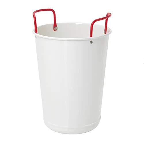 """IKEA 2019 Weinkühler\""""Sommar\"""" aus Metall Weiß mit rotem Griff."""