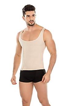 Girdle Faja Man Control T-Shirt Body Shaper Classic Shapewear Slimming Nude