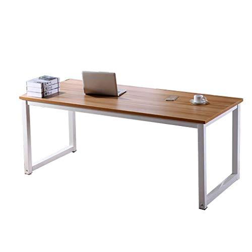 N/Z Mesas de Equipo para la Vida Escritorio Escritorio de computadora Marco de Acero + Escritorio de Madera de Grado Hogar Escritorio de Escritorio Simple Mesa de Comedor A 120x40x74cm